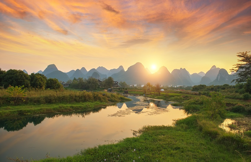 landscape in Yangshuo Guilin