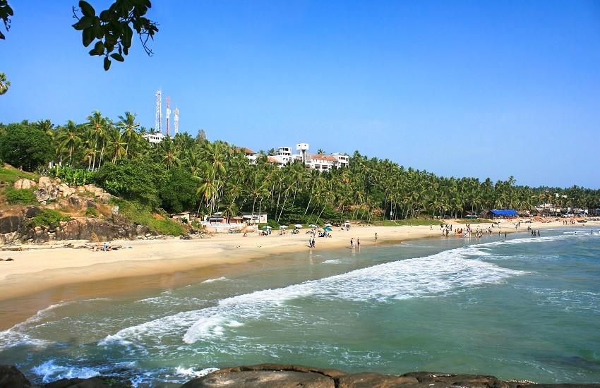 Tropical beach in Kerala