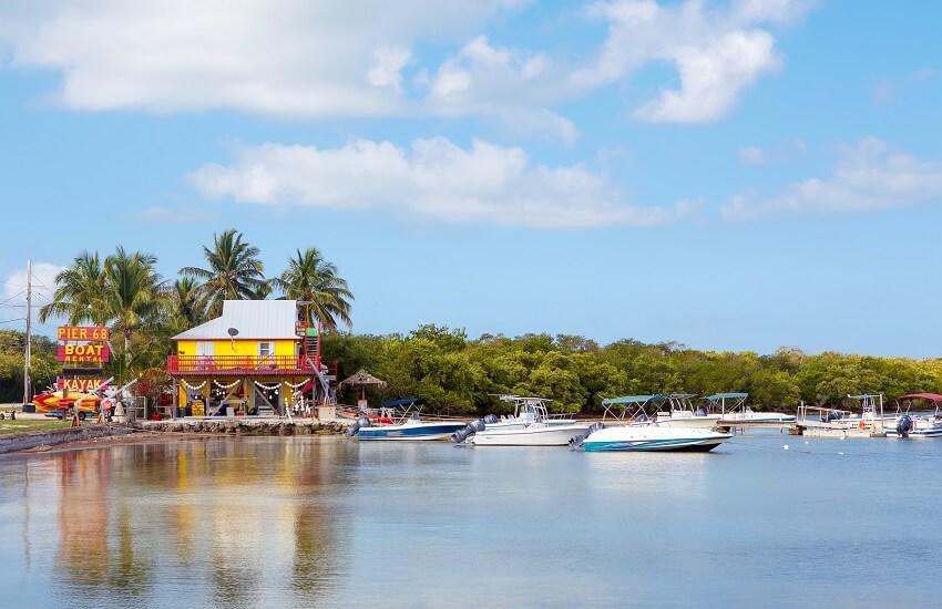 Houses Waterside at Key Largo Florida