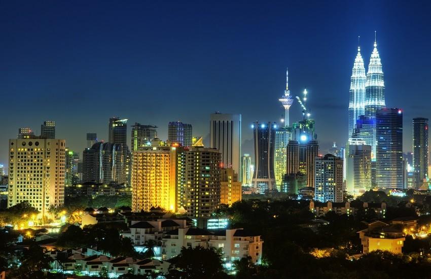 Kuala Lumper Night Skyline
