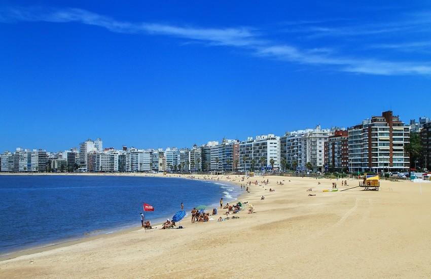 Montevideo Pocitos Beach.