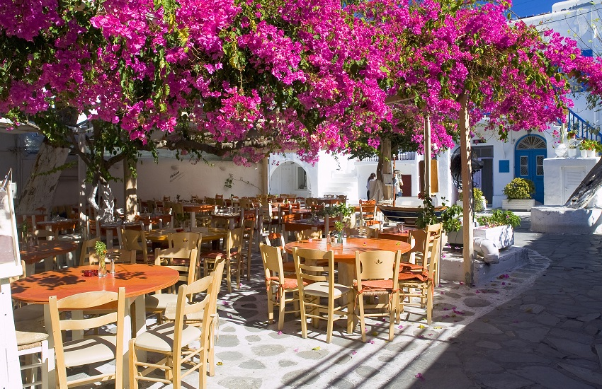Mykonos Old Town Street.