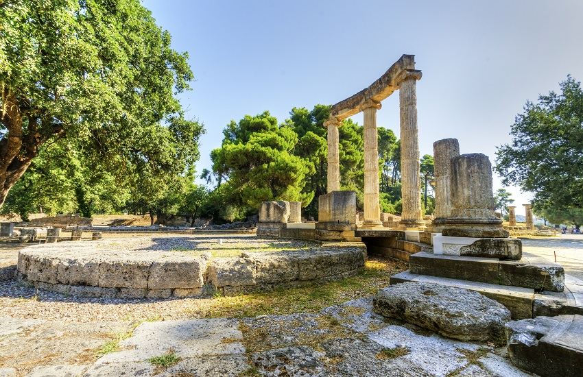 Ancient site of Olympia Greece