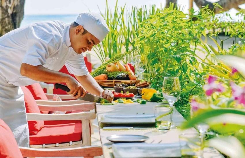 Restaurant Chefs Herb Garden