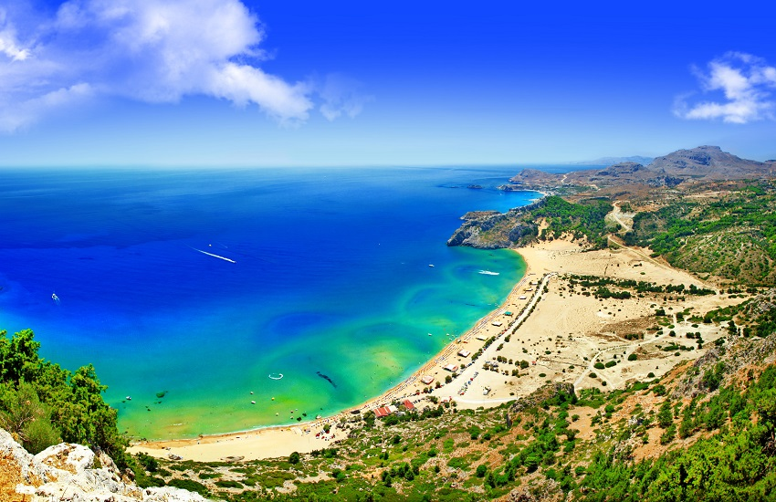 Rhodes Tsambika Beach