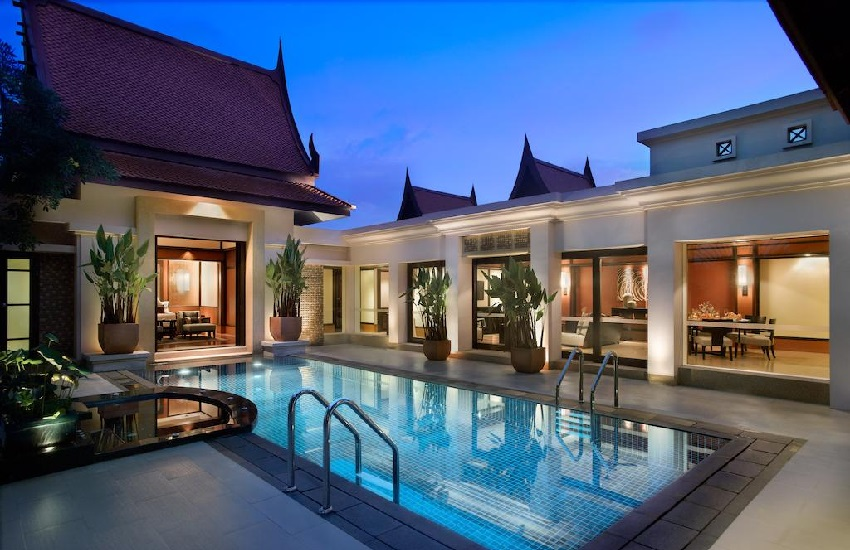 Room Pool Villa Night