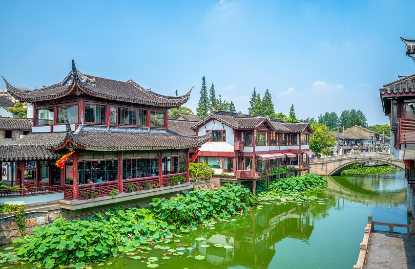 Qibao Old Town in Shanghai