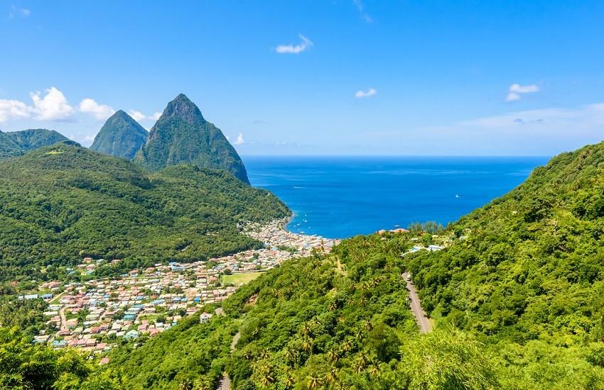 St Lucia Pitons Landscape