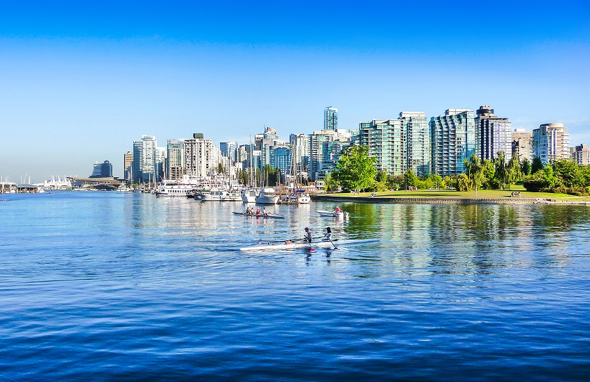 Vancouver skyline with harbor