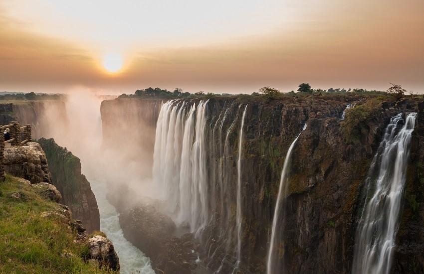 Victoria Falls sunset