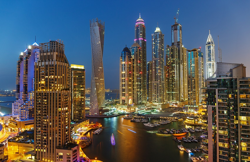 Dubai Marina at Dusk