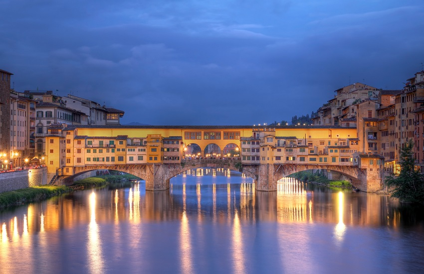 Bridge over river in Florence